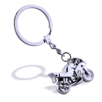 Porte-clés en métal décoratif en forme de moto