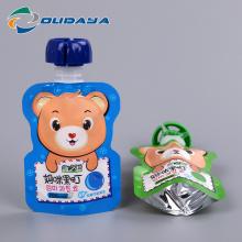 Sacos de reforço com tampa de bico seguro para comida de bebê