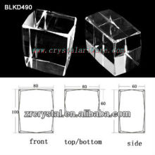 high quality blank crystal for 3d laser ebgraving