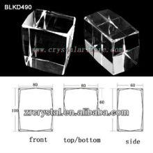 высокое качество пустых кристалл для 3d лазерная ebgraving