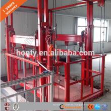 Outdoor and indoor good vertical rail freight elevator platform hydraulic warehouse cargo lift price