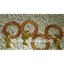 35MM Deco Window Wooden Curtain Pole Rings