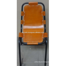 Industrial Leather Restaurant Chair Organe Color Seat