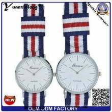 Yxl-546 Japón Quartz Movt y correa de nylon Simple Colección de Estilo Pareja amante reloj de pulsera