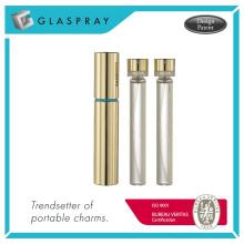 RONDO Slim RC Twist e Spray Shiny Gold 15ml Garrafa de perfume recarregável