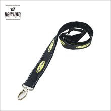 Double Layer Thick Polyester Woven Satin Lanyard