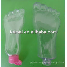 Plastic foot shape bottle