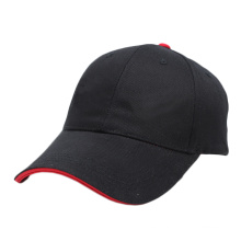 gorra de béisbol simple de la cuenta del emparedado del algodón gorra de béisbol promocional sin el logotipo
