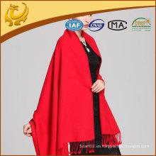 Mantones de bambú de color rojo festivo y pañuelos al por mayor pashmina