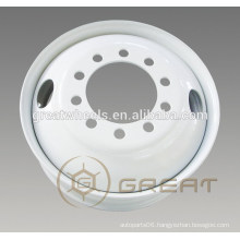 Great quality steel 22.5x8.25 hub pilot wheel, standard wheel for USA
