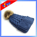 Custom Blank Twist Texture Knitted Pompom Hat