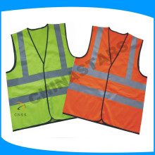 120gsm tricot fluorecent fabric reflective safety vest with en471 standard