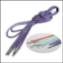 Großhandel fertigen Logo Bunte Silk Druck / Wärmeübertragung / gewebte bedruckte flache / runde Nylon / Polyester Schnürsenkel für Sport