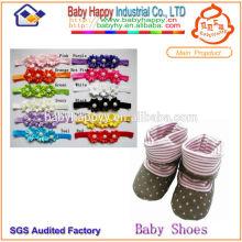 Soft Sohle Baby Schuh Socken Set Stirnband