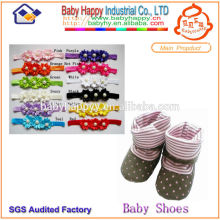 Soft Sole Baby Shoe Socks set headband