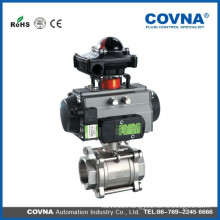 pneumatic actuator ball valve with limit switch