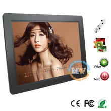 slim 15 inch motion sensor lcd digital frame with advertising