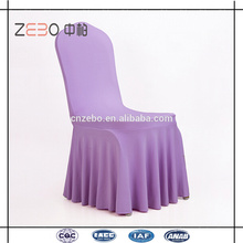 Venta al por mayor de tela de Spandex boda de colores utilizados fancy Ruffled Chair Cover