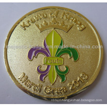 Customized Zinc Die Cast Gold Plating Soft Enamel Coin