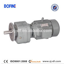 R57 helical inline gear reducer vertical gearbox made in China