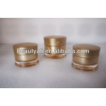 Redonda de la cintura de plástico crema de color crema jarra cosmética 15ml 30ml 50ml