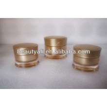 Redonda cintura plástico acrílico creme cosméticos frasco 15ml 30ml 50ml