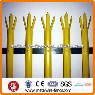 CE Certificate Galvanized Steel Palisade Fencing