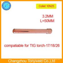 10N25 Pinzas de sujeción de tungsteno de antorcha TIG de 3,2 mm