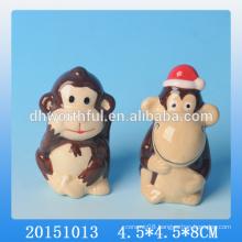 Cute monkey shaped ceramic animal ornament