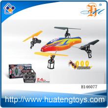 2014 helicóptero caliente del rc de la cámara del quadcopter del 6-axis del ch 4 de la venta 4, quadcopter con la cámara H146077