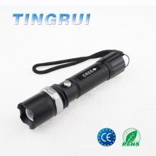 Best Strong Light Zoom Emergency led flashlight yiwu futian market factory shop