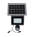 Solar powered CCTV IP PIR Lámpara HD cámara inalámbrica con reflector LED