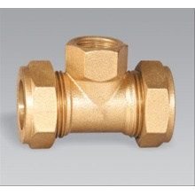 Brass Pipe Fitting Femboard Compressão Tee Peppinho