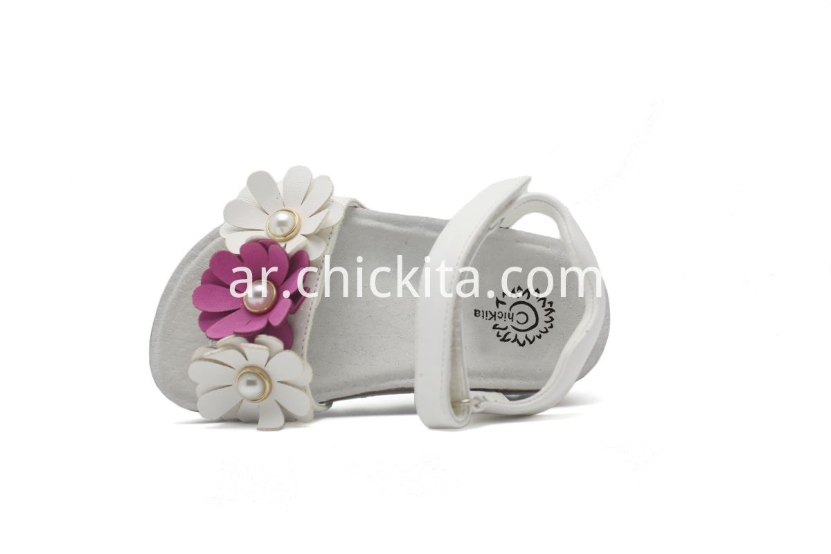Children Birkenstocks with flowers and pearl