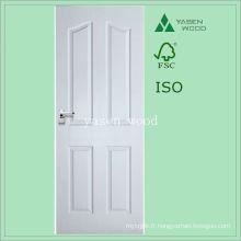 Porte en bois composite à panneau surélevé en bois blanc