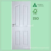 Composite Wood White Raised Panel Timber Door