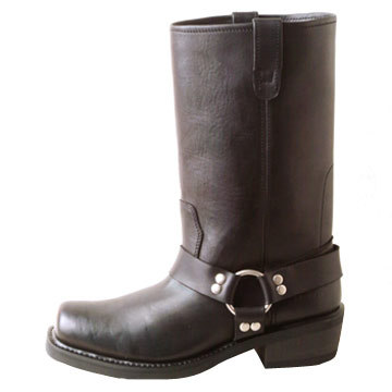 Classic Leather upper Men's Motorcycle boot
