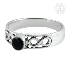 Natural Fashion Jewelry Blue Iolite Ring 925 Silver Jewelry Wholesale