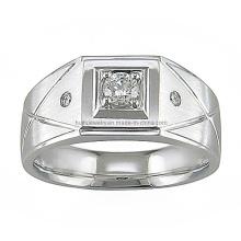 Sliver 925 recubrimiento de acero pulido joya anillo de dedo