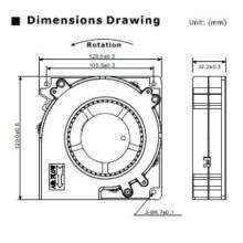 DC-Gebläse-Ventilator für Ultraschallreinigungs-Maschine
