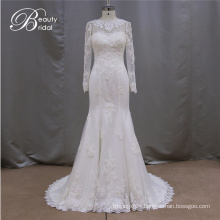 Long Sleeve Mermaid Real Sample Wedding Dress