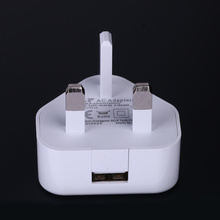 Personlized Products for Mobile Phone Charger 5V1A UK 3 pin single output USB charger export to United States Manufacturers