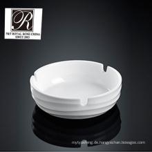 Hotel Ozean Linie Mode Eleganz weißen Porzellan Aschenbecher pt-t0535