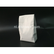 Witte Matte Plastic Quad Seal Bag