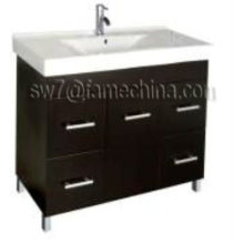High Gloss Floor Standing MDF Bathroom Corner Cabinet