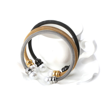 High Quality Gold Stainless Steel Mesh Bracelet For Ladies
