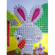 Cartoon DIY Mosaik Schaum Aufkleber für Kaninchen