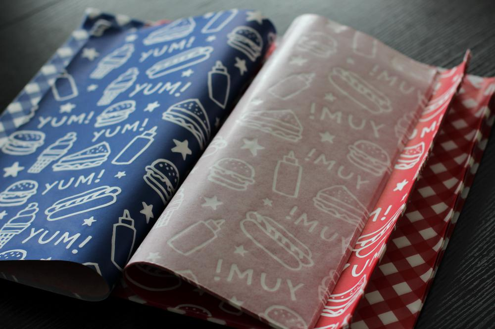 customized printed hamburger sandwich paper