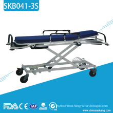SKB041-3S Medical Metal Transport Patient Trolley For Sale
