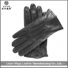 Herren Wolle Gefüttert Touchscreen Leder Handschuhe